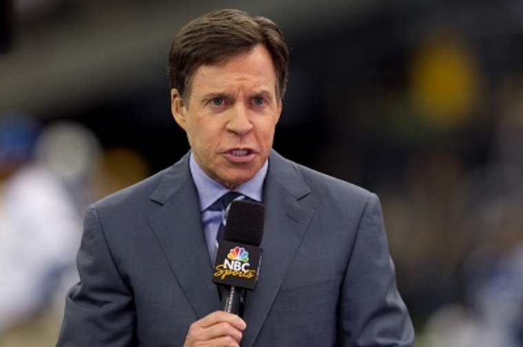 Bob Costas announcing an NFL game on October 23, 2011 (Photo by Tom Hauck/AP)