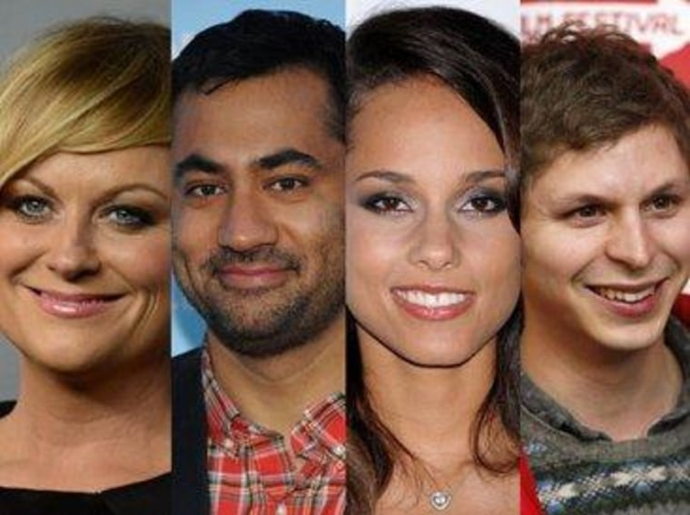 Amy Poehler, Kal Penn, Alicia Keys, and Michael Cera