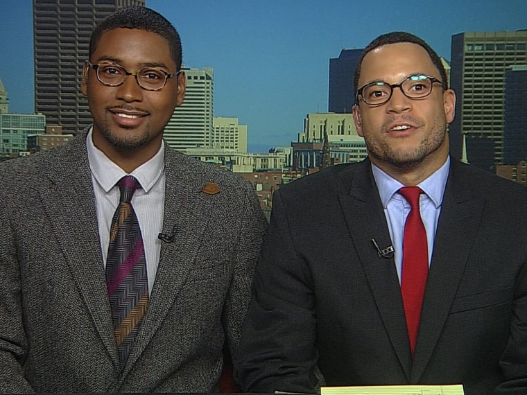 Paris Prince and Ravi Perry, the first male LGBT couple to appear in JET magazine, talk to Thomas Roberts on msnbc