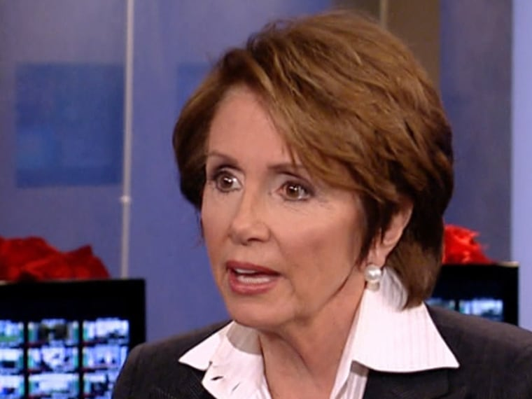 House Democratic Leader Nancy Pelosi during an appearance on Andrea Mitchell Reports.