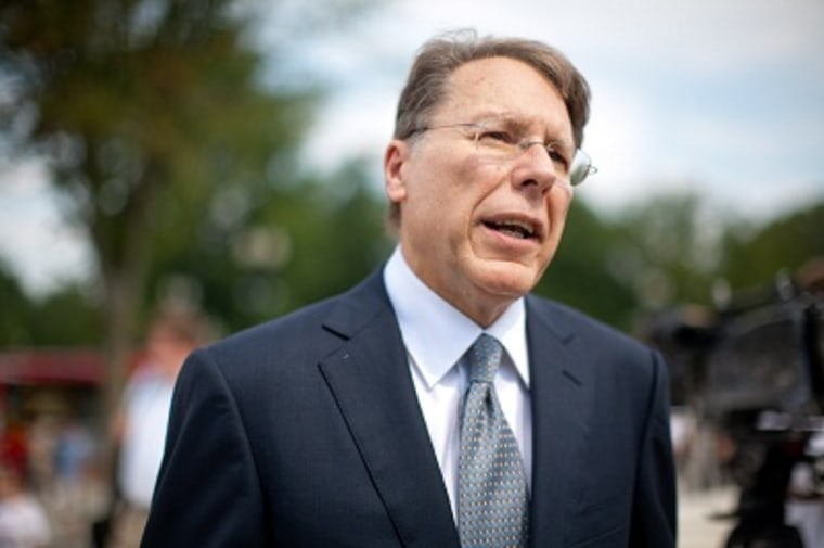 Wayne LaPierre, Exec. VP and CEO of the National Rifle Association (Photo by Brendan Hoffman/Getty Images)