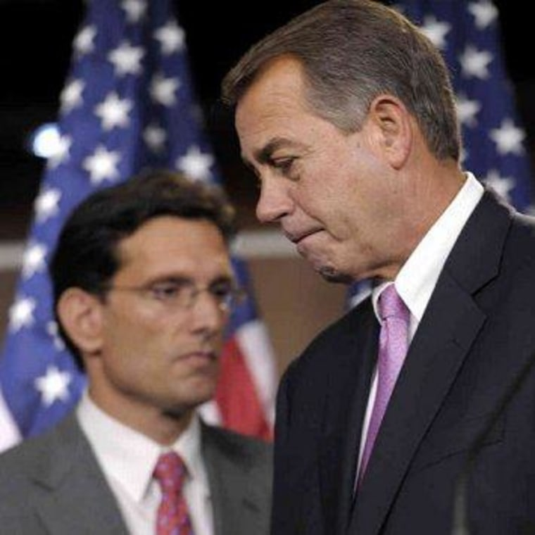 Boehner, Cantor switch gears on 'basic fairness'