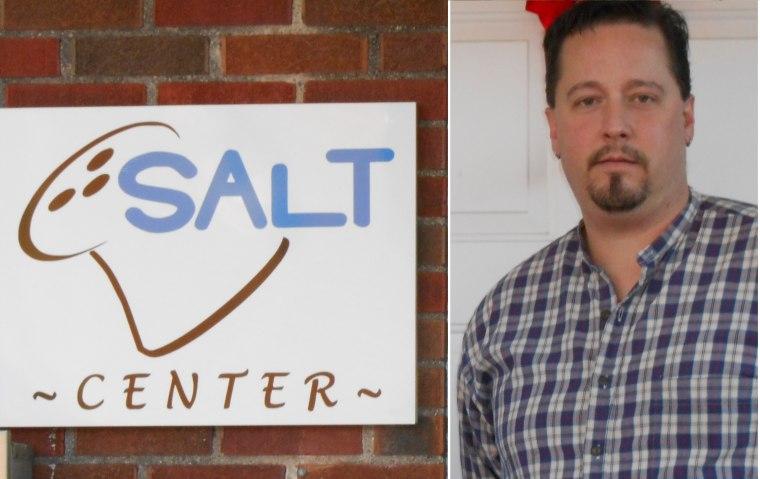 """Foot Soldier"" Jason Benson in front of his SALT Emergency Overnight Center. (Courtesy of Jason Benson)"