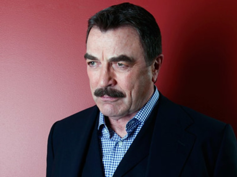 Tom Selleck poses for a portrait in New York on Mar. 21, 2012. (Photo by Carlo Allegri/AP Photo)