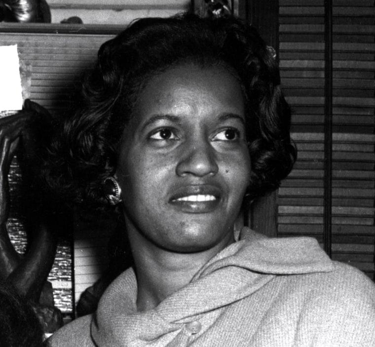 Myrlie Evers in 1965. (AP Photo/files)