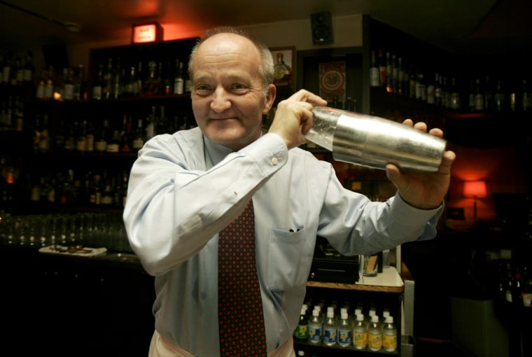 FILE - In this March 4, 2009 file photo, Murray Stenson, bartender at Zig Zag Cafe makes a drink in Seattle.  Stenson needed help to pay for heart surgery, it was surprising to no one but him how swift the response was. Fundraising events were quickly...
