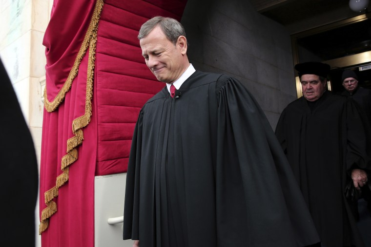 File photo: Chief Justice John Roberts. (AP Photo/Win McNamee, Pool)