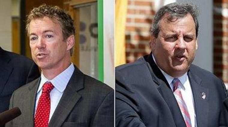 Christie, Paul, and a GOP fissure coming to the fore