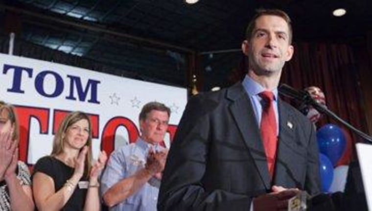 Tom Cotton is ready for his close-up