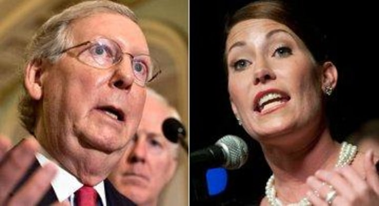 Senate Minority Leader Mitch McConnell (R-Ky.) and Kentucky Secretary of State Alison Lundergan Grimes