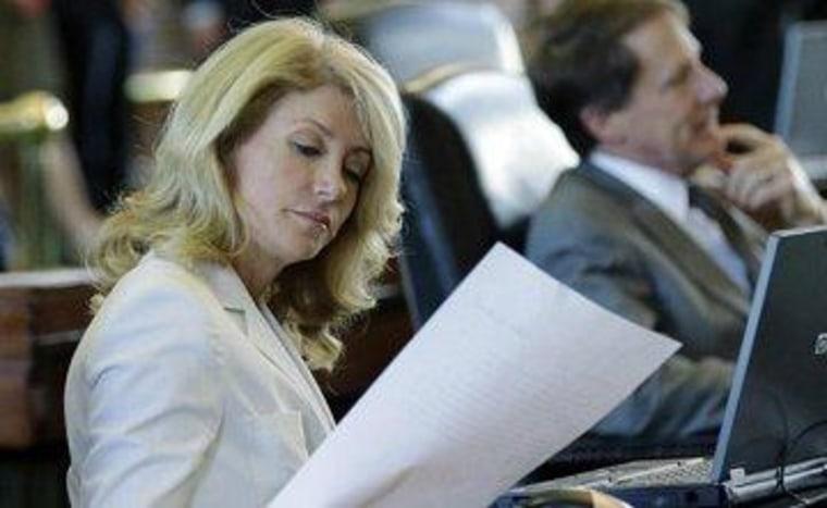 Don't send Wendy Davis a bill