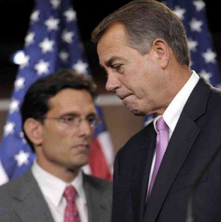 Boehner's plan to hurt the country on purpose