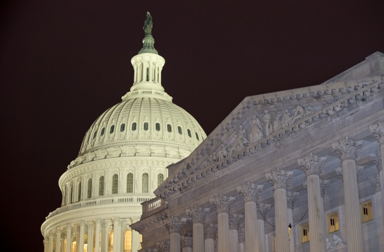 The United States Capitol is seen on Capitol Hill Wednesday, Feb. 27, 2013 in Washington. (AP Photo/Alex Brandon)