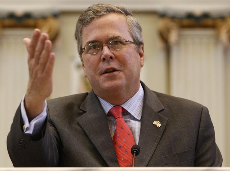 Former Fla. Gov. Jeb Bush  in Oklahoma City, Wednesday, Aug. 11, 2010. (AP Photo/Sue Ogrocki)