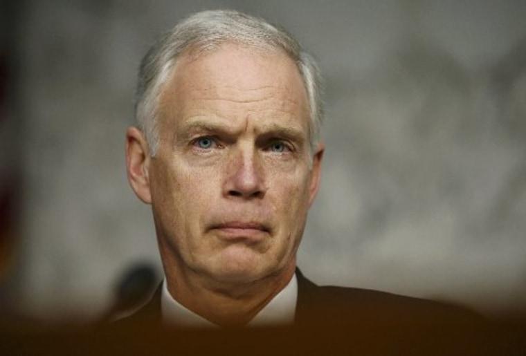 U.S. Senator Ron Johnson (R-WI) listens in a Senate hearing. REUTERS/Jason Reed