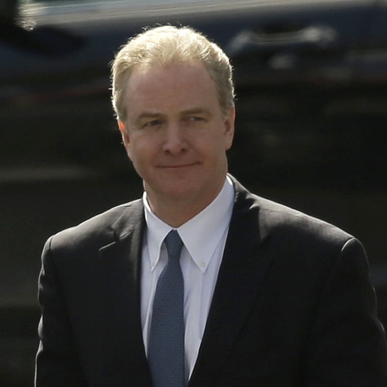 Rep. Chris Van Hollen, D-Md., ranking Democrat on the House Budget Committee, right, arrives at the West Wing of the White House in Washington, Thursday, March 7, 2013. President Barack Obama is having a private lunch with Van Hollen and committee...