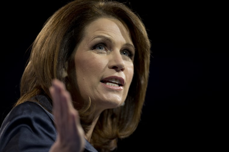 Rep. Michelle Bachmann, R- Minn., speaks at the 40th annual Conservative Political Action Conference in National Harbor, Md., Saturday, March 16, 2013. It may seem early, but the diehard activists who attended the three-day conference are already...