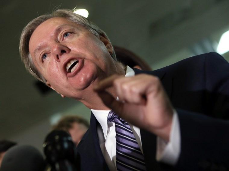 Image: Susan Rice Meets With Republican Senators On Capitol Hill