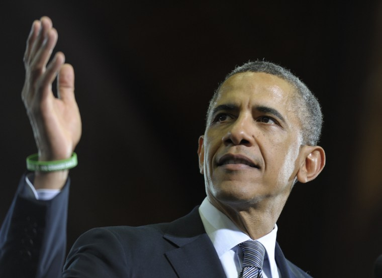 President Barack Obama speaks at the University of Hartford in Hartford, Conn., Monday, April 8, 2013. Obama, with relatives of those killed in the shooting at Connecticut's Sandy Hook Elementary School behind him, argued in his speech that lawmakers...