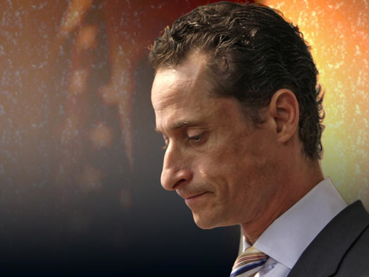 Anthony Weiner announced his resignation from Congress during a news conference in Brooklyn, New York, Thursday, June 16, 2011. Weiner resigned after a scandal spawned by lewd photos of himself that the New York lawmaker sent online to numerous women. ...