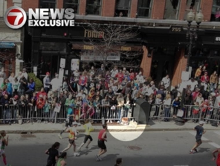 A viewer sent this photo of the race route before a bomb went off at the Boston Marathon to NBC News station affiliate WHDH. The FBI is examining this and other photos from the public in its search for information about Monday's explosions. Source: WHDH