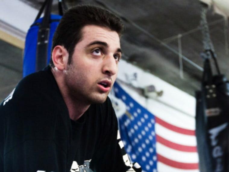 File Photo: Tamerlan Tsarnaev practices boxing at the Wai Kru Mixed Martial Arts center in April 2009 in Boston, Massachusetts.  Barcroft Media /Landov