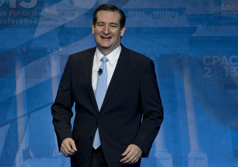 Sen. Ted Cruz, R-Texas, arrives to speak at the 40th annual Conservative Political Action Conference in National Harbor, Md., Saturday, March 16, 2013. Diehard activists at the three-day conference are already picking favorites in what could be a...