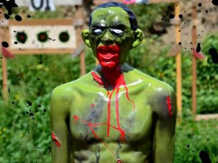 """""""Rocky"""" zombie target that was removed from the NRA convention floor (Photo via zombieindustries.com)"""