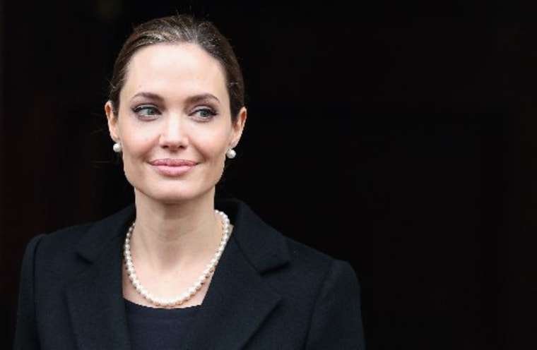 Actress Angelina Jolie disclosed that she underwent a preventative double mastectomy and reconstructive surgery after discovering that she was at risk for cancer. (Photo by:  Oli Scarff/Getty Images)