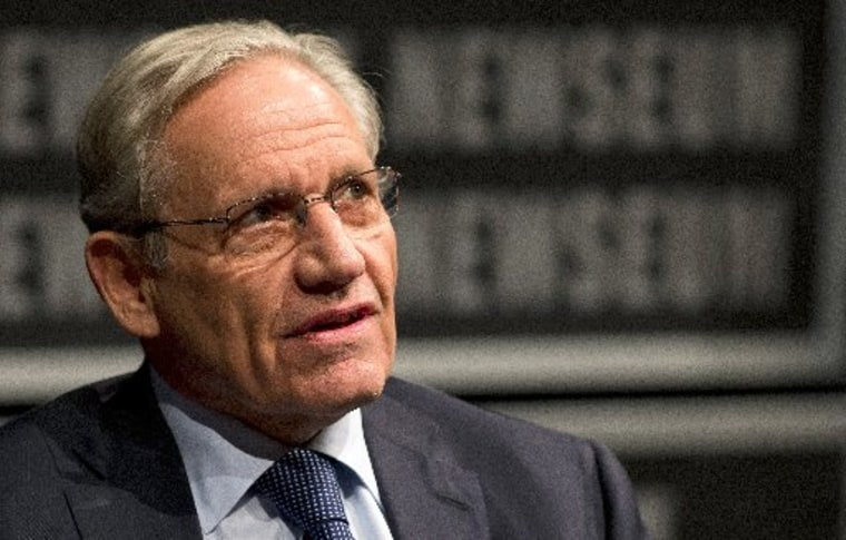 (FILES)Associate Editor of the Washington Post Bob Woodward speaks at the Newseum during an event. AFP PHOTO/Jim Watson / FILESJIM WATSON/AFP/Getty Images