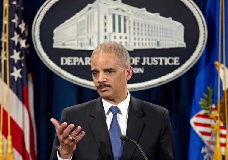The U.S. Justice Department has launched a criminal investigation into the Internal Revenue Service's inappropriate targeting of conservative and Tea Party groups, Attorney General Eric Holder announced Tuesday afternoon.  (Photo by J. Scott Applewhite...