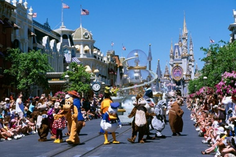 Magic Kingdom in Disney World in Orlando, Florida. (Photo by Alamy.com)