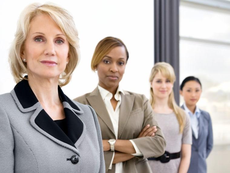 Businesswomen standing in office