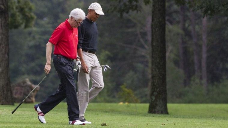 Image: Barack Obama, Bill Clinton