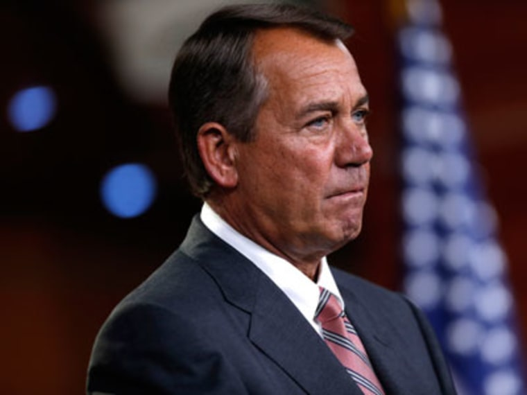 House Speaker John Boehner at a news conference in Washington on May 23, 2013. (Photo by Charles Dharapak/AP)