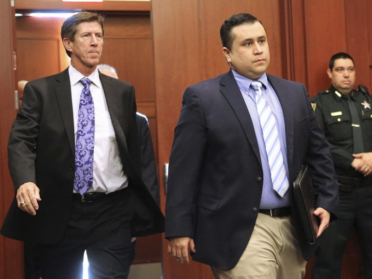 George Zimmerman arrives with his lead counsel, Mark O'Mara (L) for a hearing in Seminole circuit court in Sanford, Florida in this file photo taken February 5, 2013. Photo by Joe Burbank/Pool/Reuters