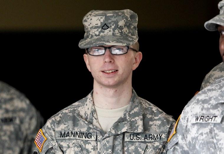 Army Pfc. Bradley Manning in December 2011 (AP Photo/Patrick Semansky, File)