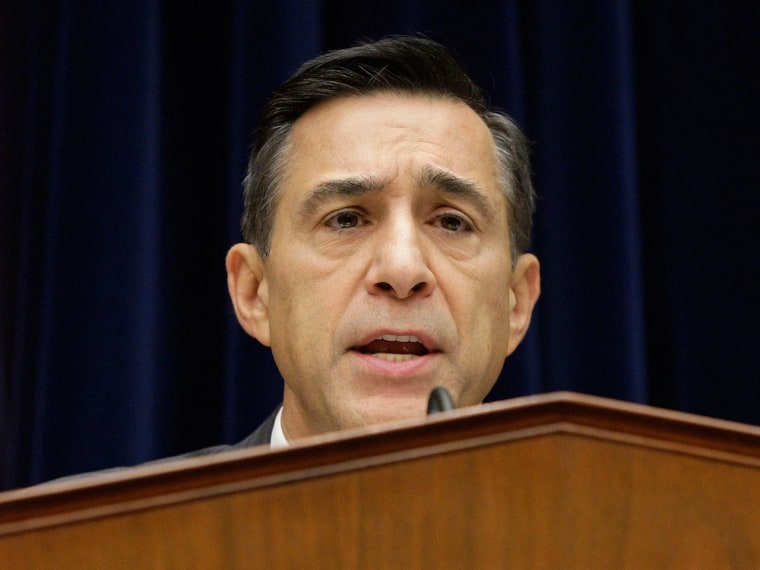 Rep. Darrell Issa (R-CA) holds a House Oversight and Government Reform Committee hearing on alleged targeting of political groups seeking tax-exempt status from by the Internal Revenue Service. (REUTERS/Jonathan Ernst )