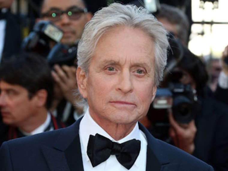 """Michael Douglas attends the """"Behind The Candelabra"""" premiere during the 66th Annual Cannes Film Festival on May 21, 2013 in Cannes, France. (Photo by Michel Dufour/Getty Images)"""
