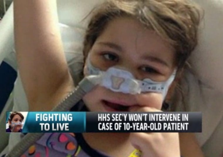 10-year-old Sarah Murnaghan, who suffers from end-stage cystic fibrosis, is waiting on the organ transplant network to decide whether she can receive life-saving surgery.