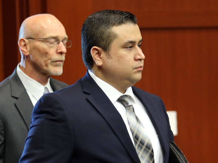 George Zimmerman arrives in circuit court for his trial, along with co-counsel Don West, Monday, June 10, 2013, in Sanford, Fla. (AP Photo/Orlando Sentinel, Joe Burbank)