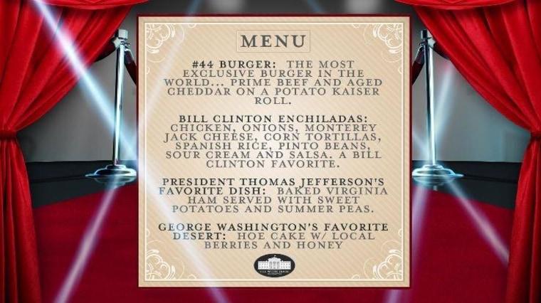 mess anniversary menu