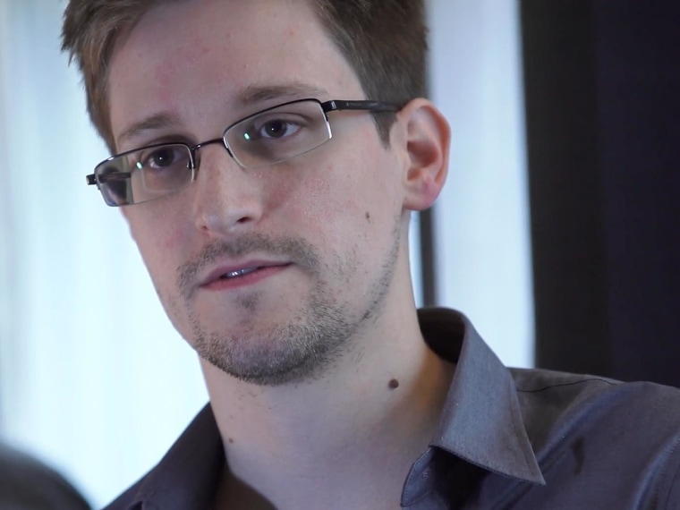 In this handout photo provided by The Guardian, Edward Snowden speaks during an interview in Hong Kong. (Photo by The Guardian via Getty Images)
