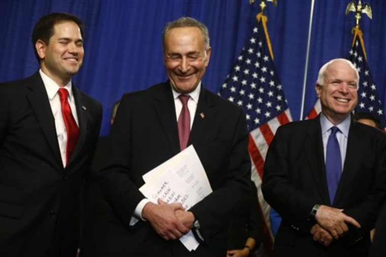 The CBO report may be a boon to the chances of the Gang of 8's immigration reform bill.(AP Photo/Charles Dharapak)