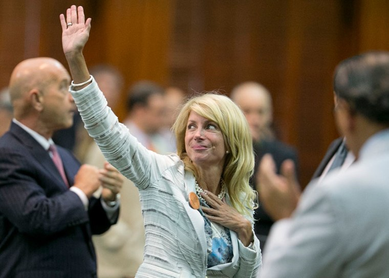 State Sen. Wendy Davis (Photo by Bob Daemmrich/Corbis)