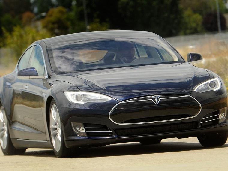 A Tesla Model S electric sedan (REUTERS/Noah Berge)