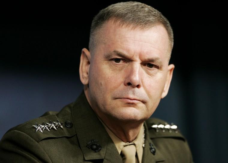 Joint Chiefs Vice Chairman, Marine Corps Gen. James Cartwright (AP Photo/Haraz N. Ghanbari)