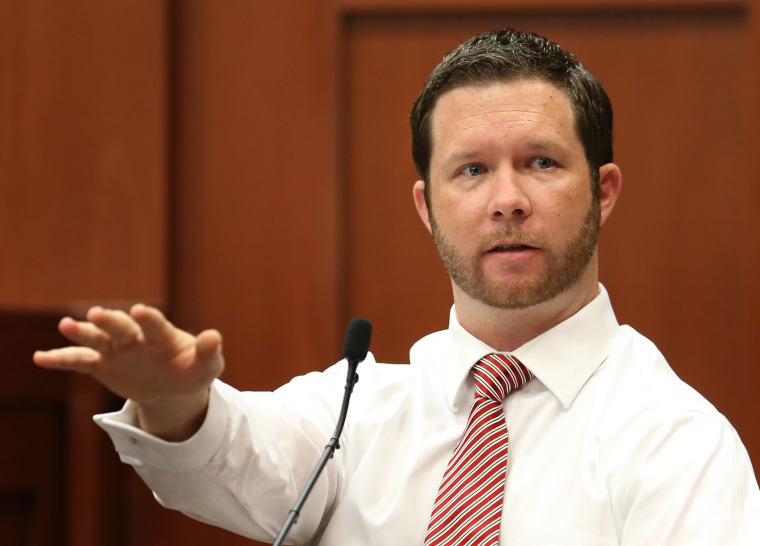 Jonathan Good, a neighbor who witnessed part of the confrontation between George Zimmerman and Trayvon Martin testifies during the 15th day of Zimmerman's trial in Seminole circuit court, in Sanford, Fla., on June 28, 2013. (AP Photo/Orlando Sentinel,...