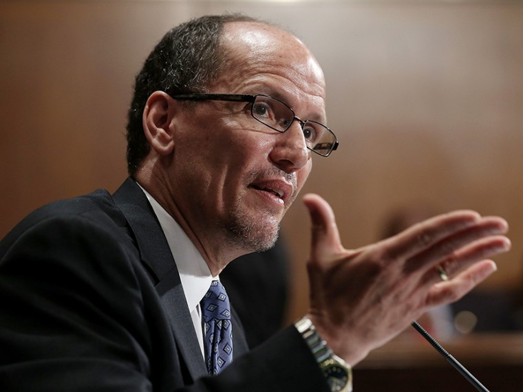 Labor Secretary nominee Thomas Perez testifies during his confirmation hearing before the Senate Health, Education, Labor and Pensions Committee April 18, 2013 on Capitol Hill in Washington, DC. (Photo by Alex Wong/Getty Images)