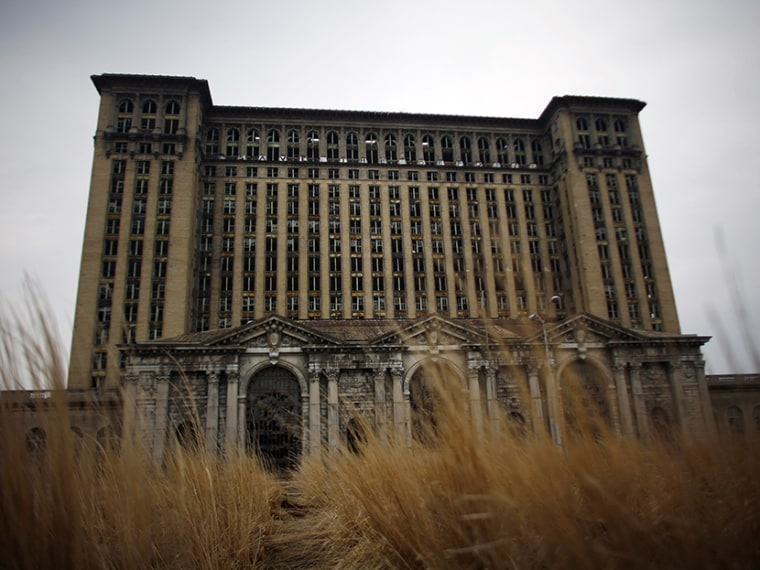 The abandoned Michigan Central Station is seen in Detroit, Michigan April 5, 2011.  (Photo by Eric Thayer/Reuters)